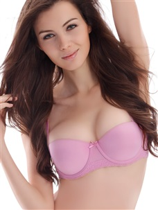 Daily Push up Bandeau Bra Micro Fiber Fuchsia