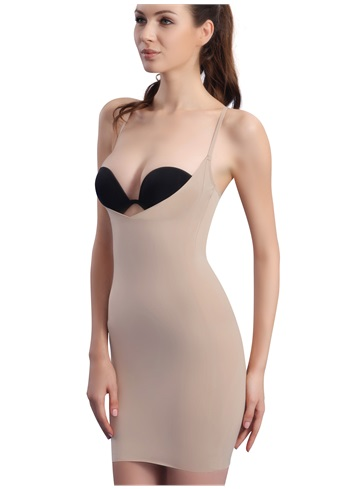 PPZ Slimming Underbust Shaperwear Khaki, Size:L: Contours your tummy, waist and hips into a great hourglass shape under dresses and skirts. With a cut-out front that lifts you into your bra and a back that bans bra-bulge, this shaping slip is your sexy secret