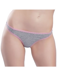 Women's Low-rise Thong Panties Cotton Elastic Waist