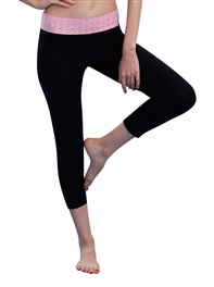Women's Sporty Yoga Legging Pant Ultimate Tight Modal Black